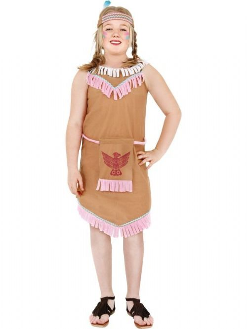 Indian Girl Costume With Bird Bag